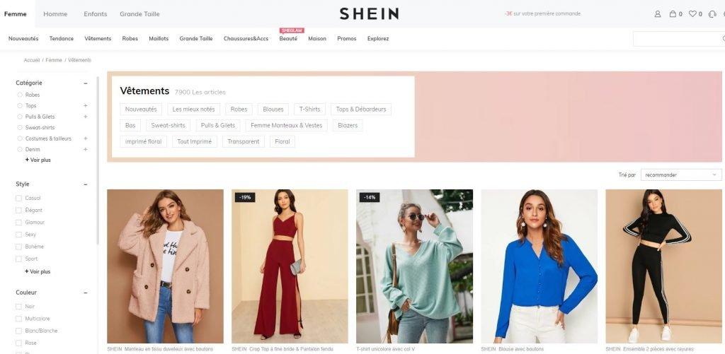 boutique shein