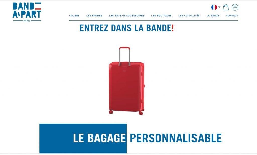 bande à part valise personnalisable
