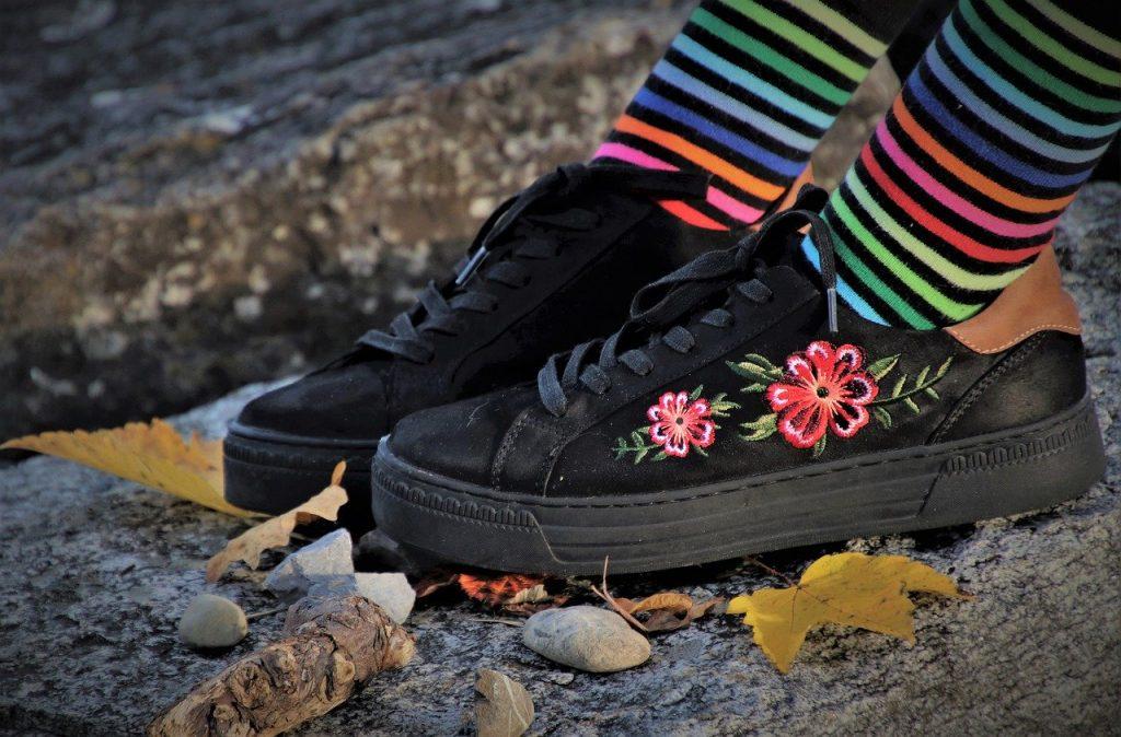chaussettes à la mode