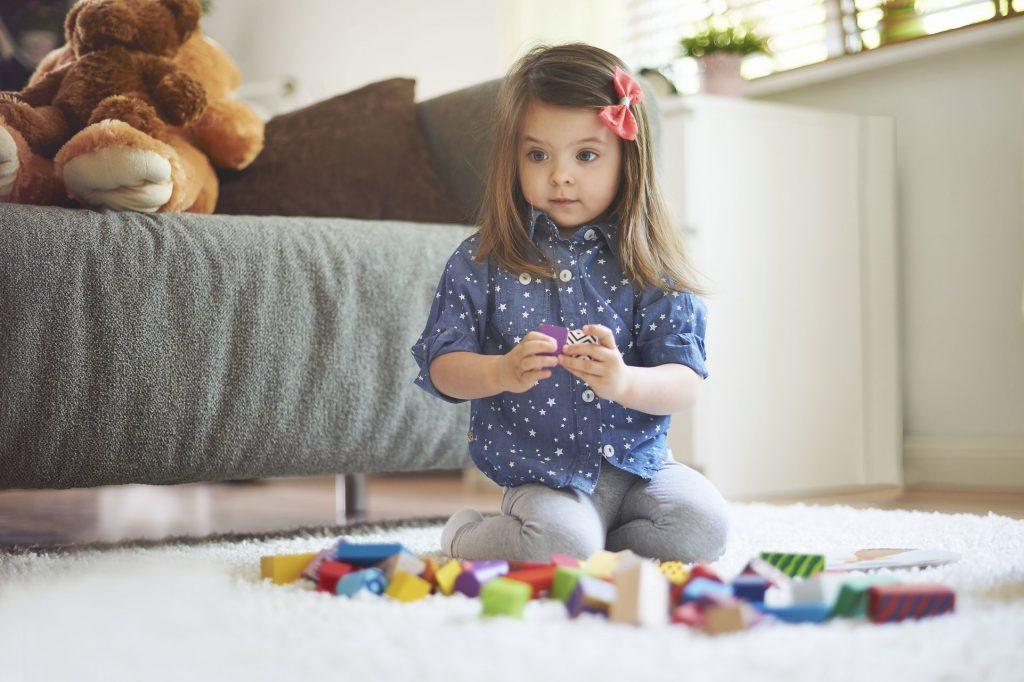 Utilisez un tapis classique pour une chambre d'enfant