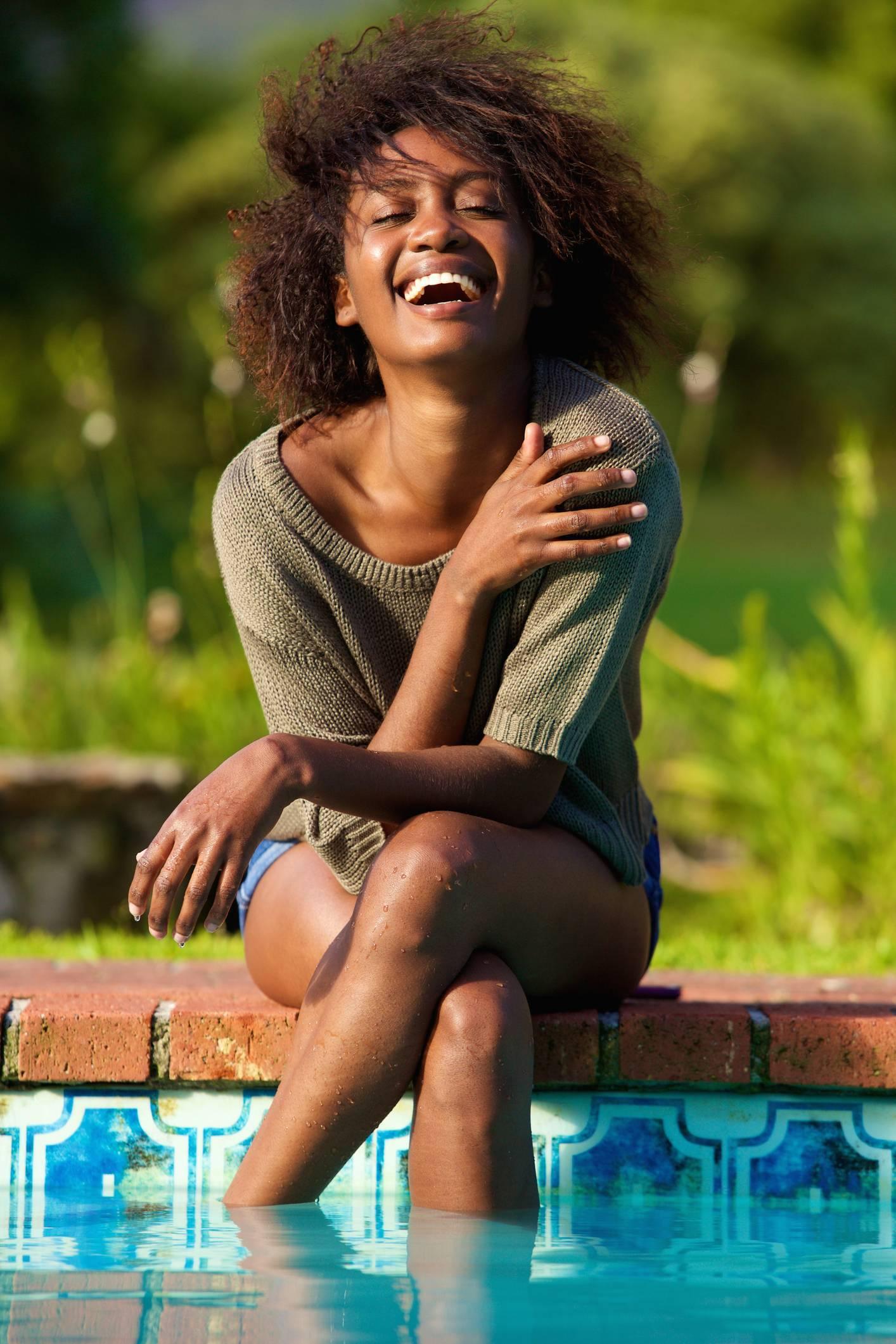 cheveux afro produits de soin piscine