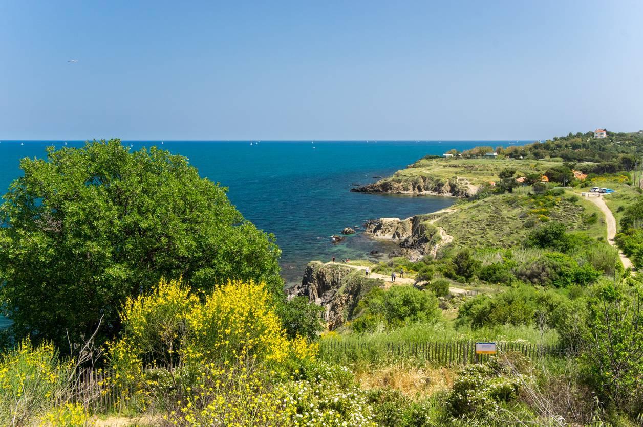 Argelès-sur-mer sentier du littoral