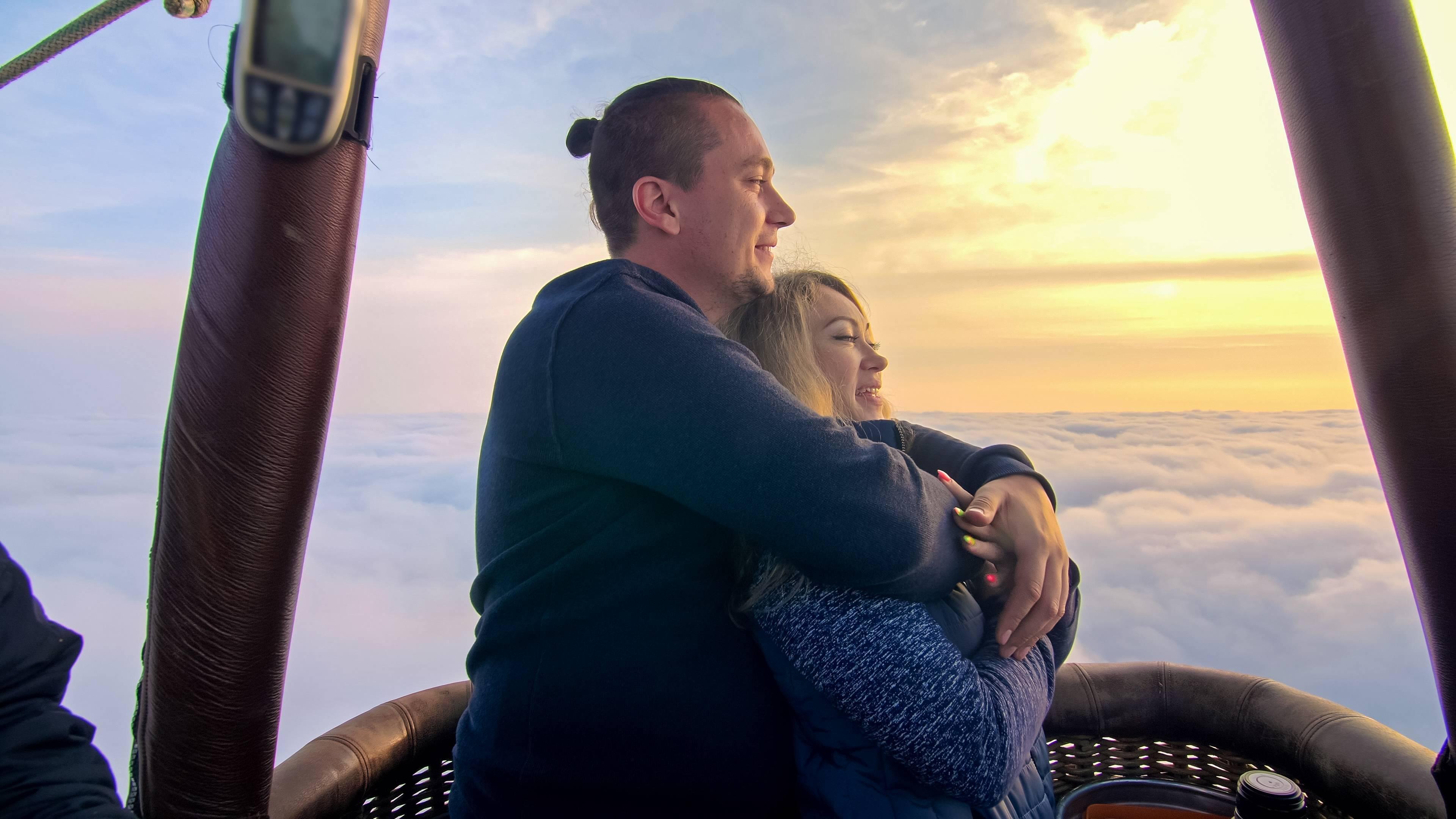 Vol montgolfière sortie romantique