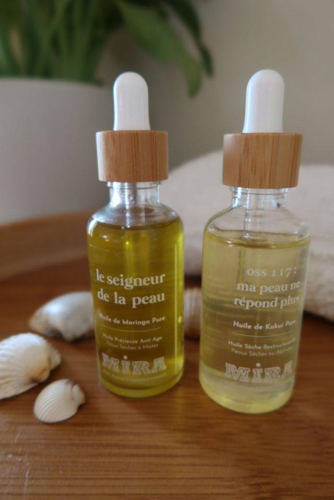 Huile de moringa pure  et huile de kukui pure